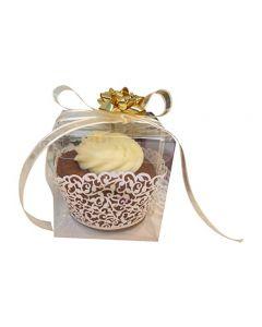 25 PCS Clear Plastic Tuck Top PVC Cupcake Wedding Party Boxes (3x3x3)